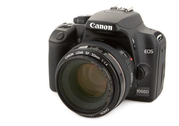 Canon 1000D met 50mm f/1.4 objectief