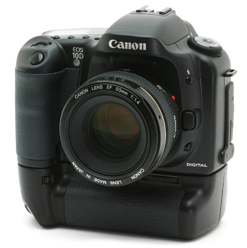 Canon EOS 10D met grip