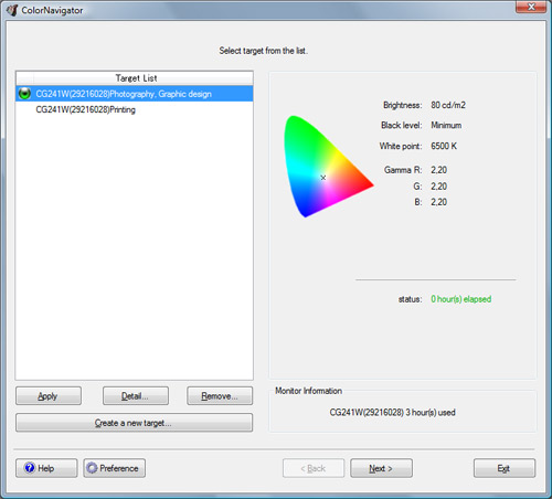 Colornavigator software; het calibratieproces