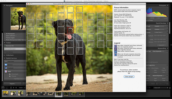 Plug-in: Scherpstelpunten terugzien in Lightroom