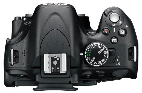 Nikon D5100 - top