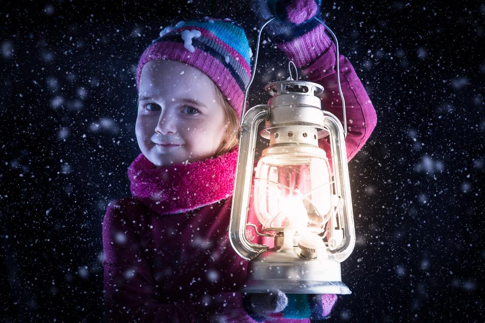 Vera in de sneeuw