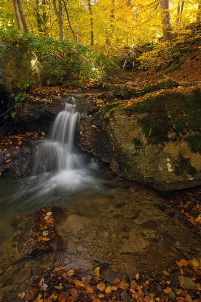 Waterval in herfstkleuren