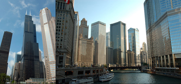 Sears Tower en Chicago river