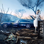 Kunst van David LaChapelle voor Maybach