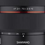 Samyang's eerste zoomobjectief: de AF 24-70mm f/2.8 FE