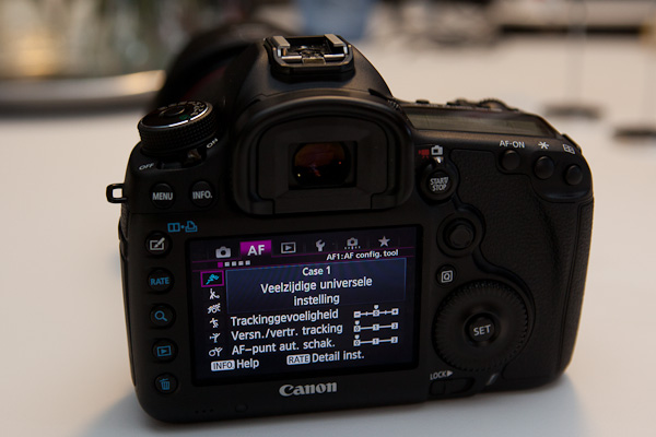 Canon 5D mark III; menu