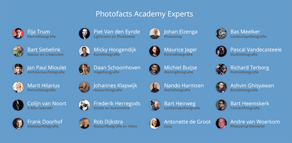 Photofacts Academy Experts