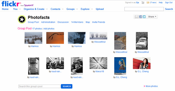 Photofacts Flickr group start