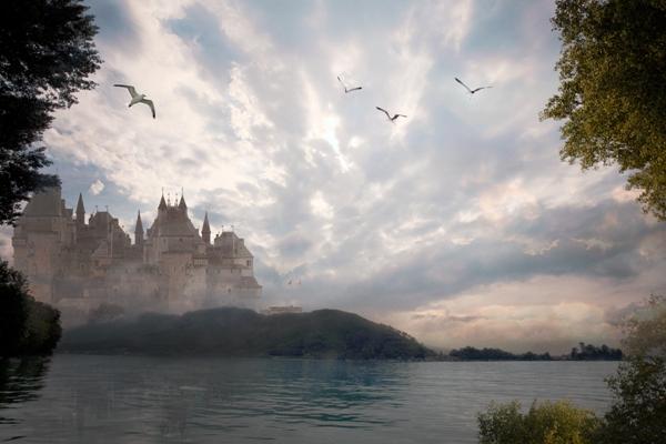 Fotomontage kasteel
