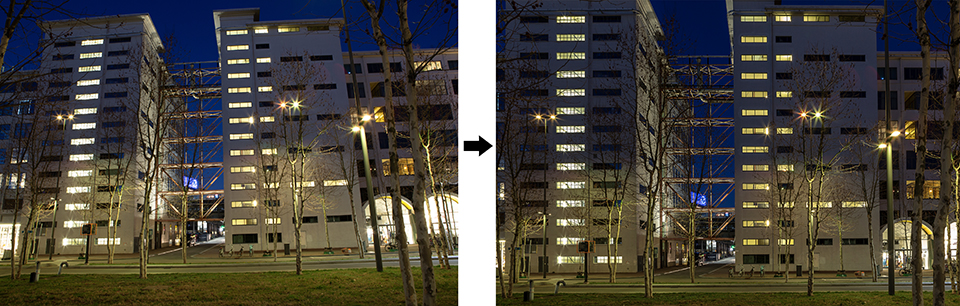 Architectuurfoto before and after