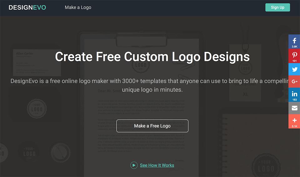 Gratis een logo maken met DesignEvo Logo Maker