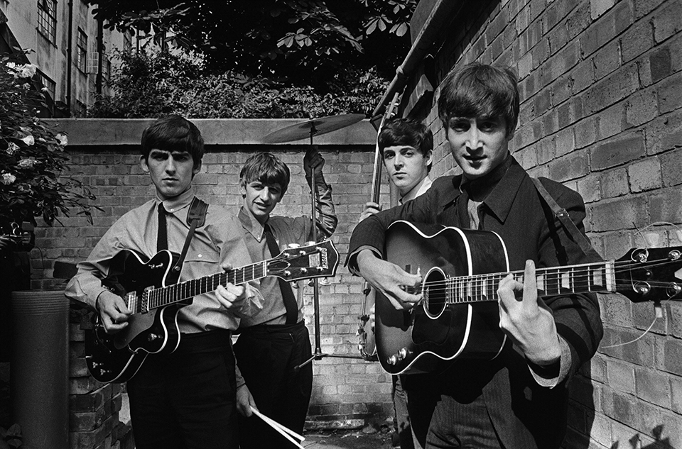 Terry ONeill The Beatles in a Backyard London 1963   Courtesy Eduard Planting Gallery