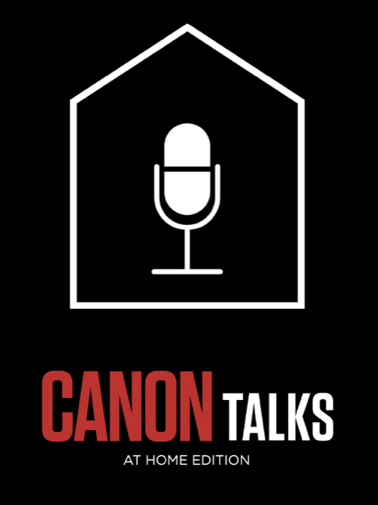 Canon talks at home