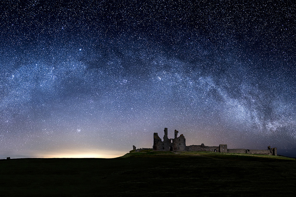 Dunstanburgh castle - Milky way