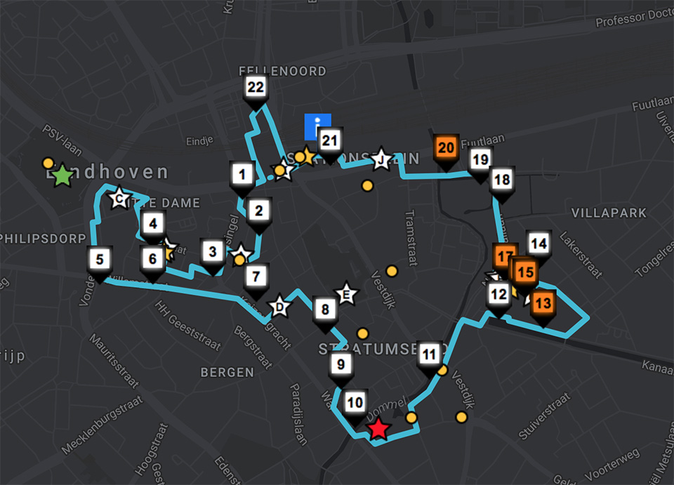 Glow Eindhoven route