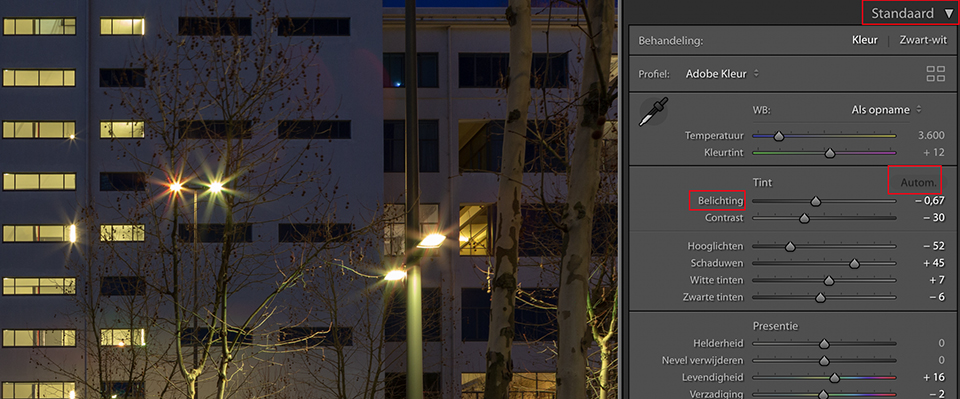 Lightroom classic cc belichting