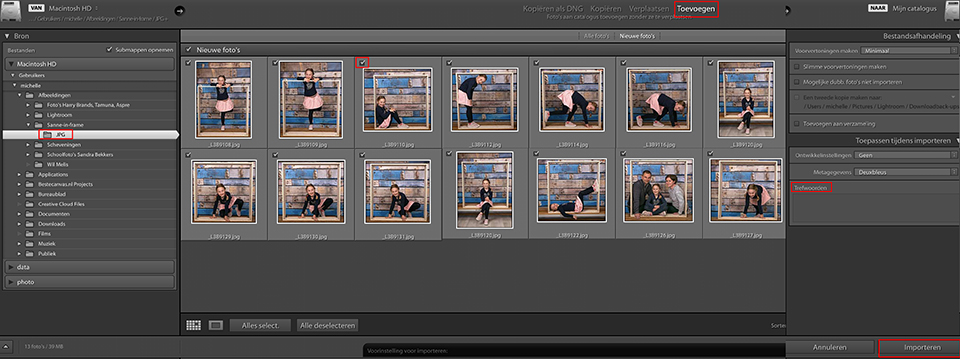 Lightroom - foto's importeren