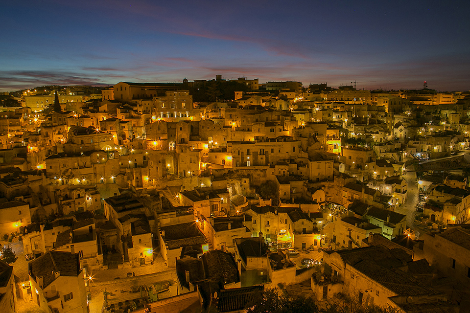Matera by night italy