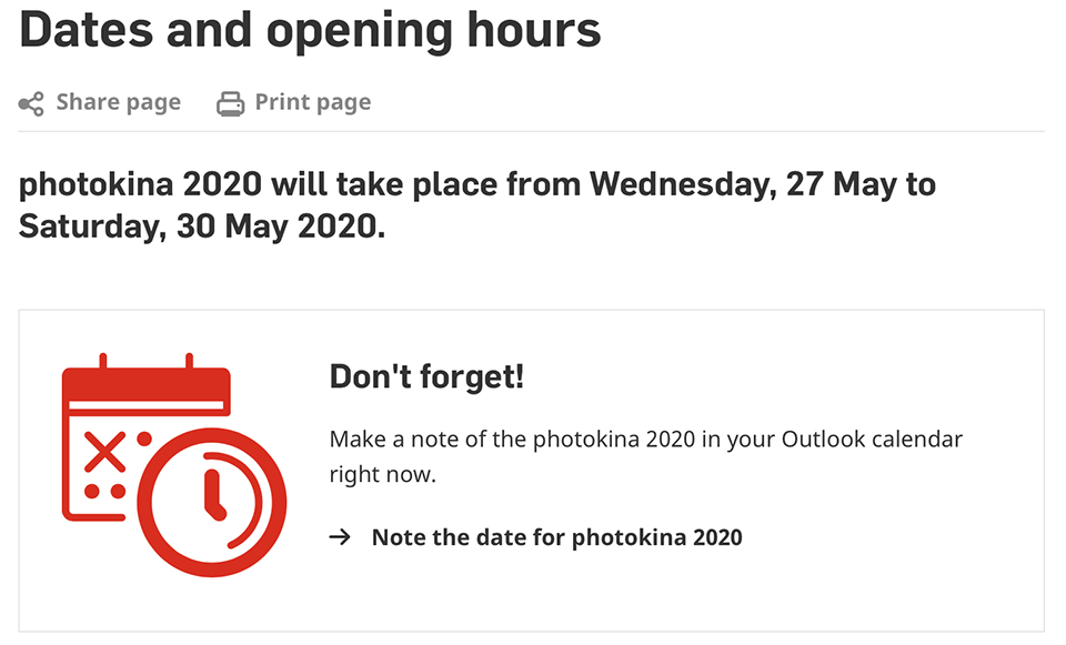 Photokina 2019 cancelled
