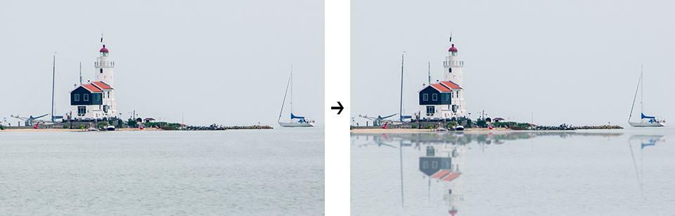 Photoshop reflectie maken