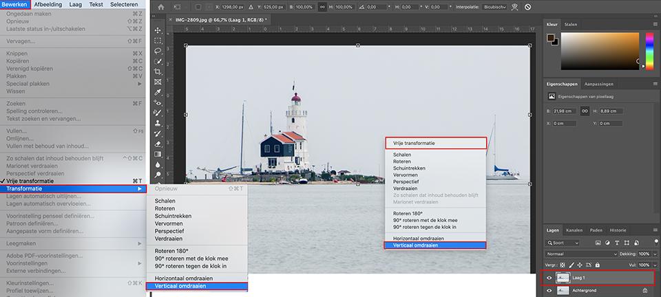 Photoshop reflectie maken 3