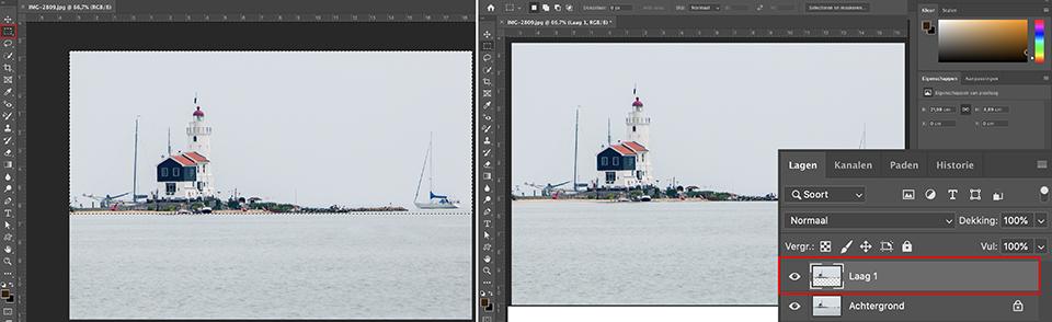 Photoshop reflecties maken