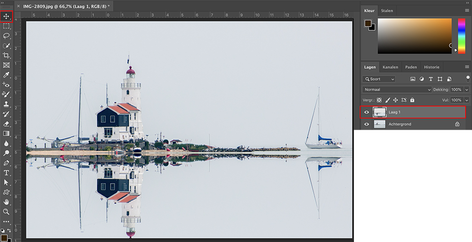 Photoshop reflecties maken 4