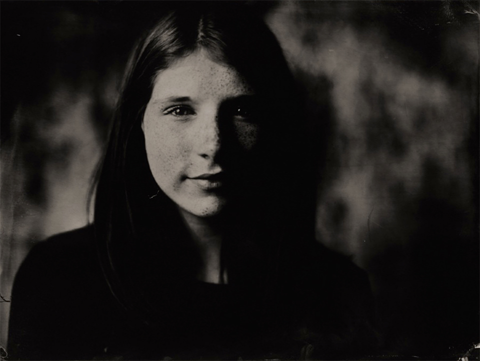 Portrait wet plate - Indra Moonen
