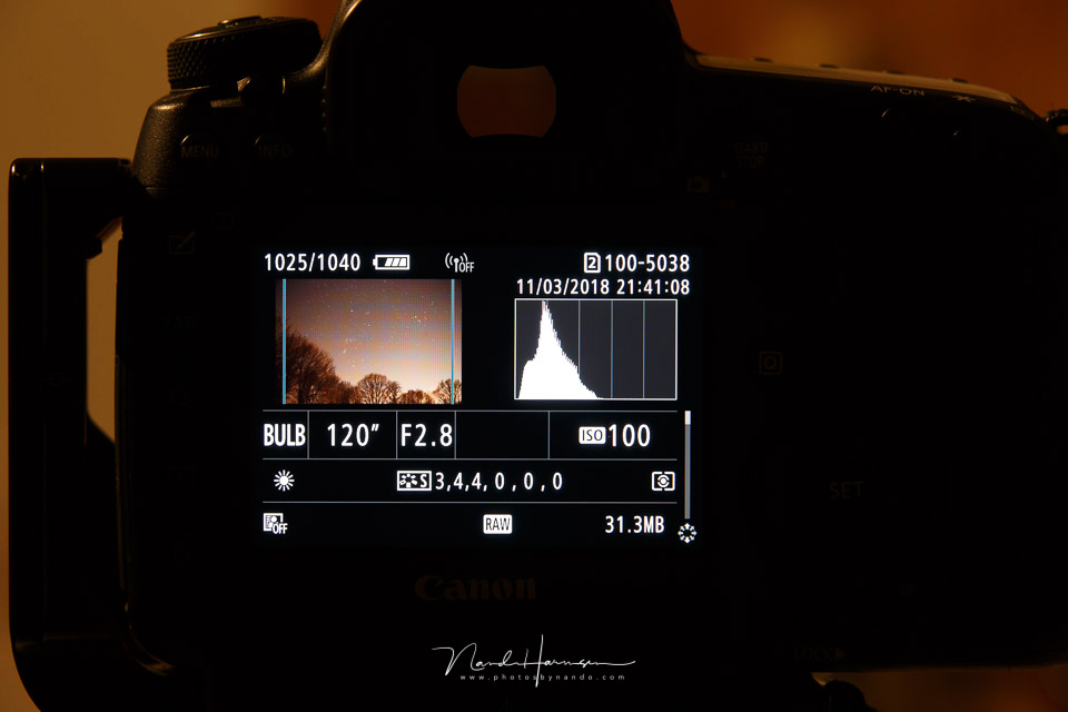 Nando histogram belichting