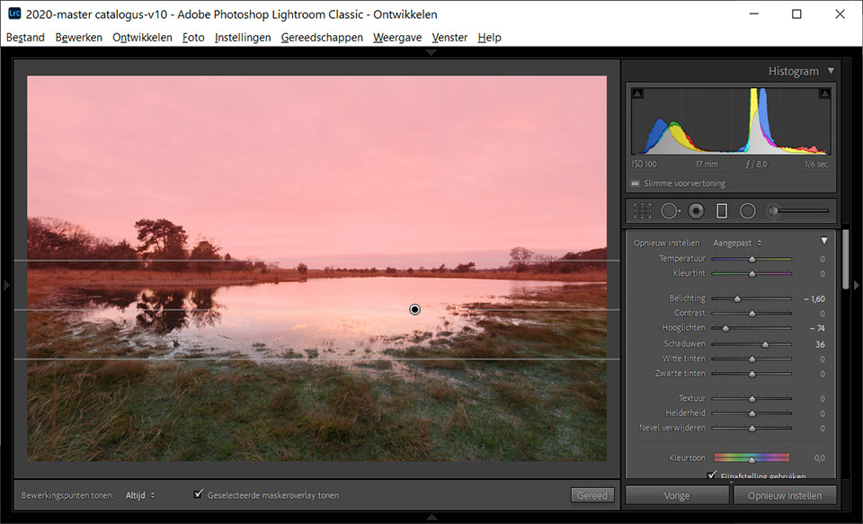 Nando masker in lightroom