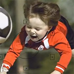 Canon reclame; voetbal kids