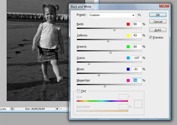 van zwart wit naar kleur photoshop