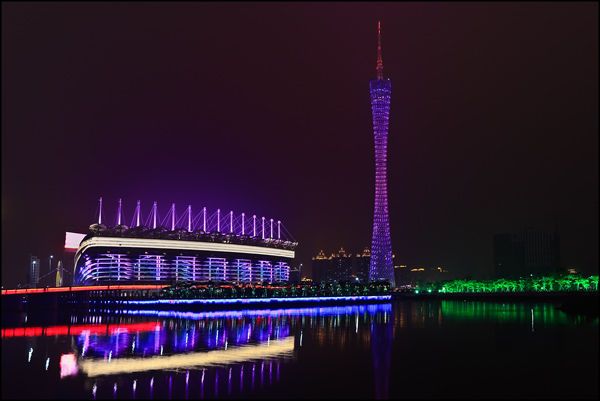 Asian Games Stadium with Canton Tower