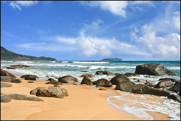 Untouched tropical beach in Sanya, Hainan