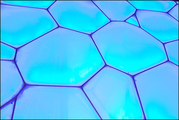 blue surface water cube