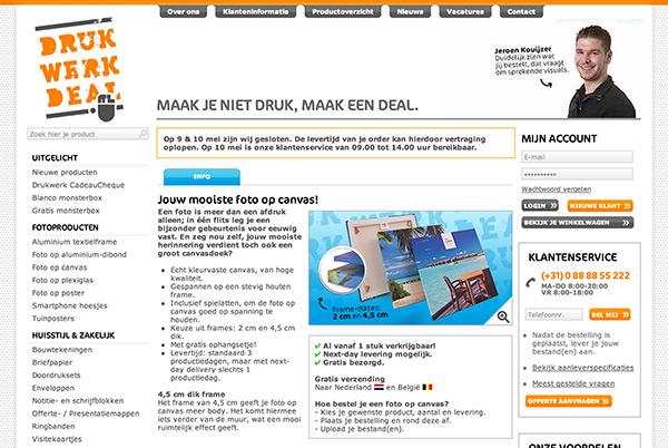 Drukwerkdeal screenshot